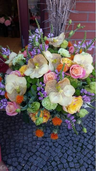 """Puokštė su geltonomis orchidejomis """"Vanda"""""""