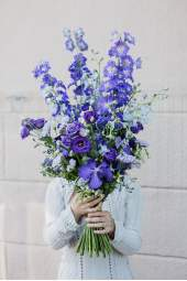 Marinistinio stiliaus gėlių puokštė