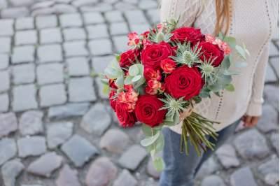 Kasikinė gėlių puokštė