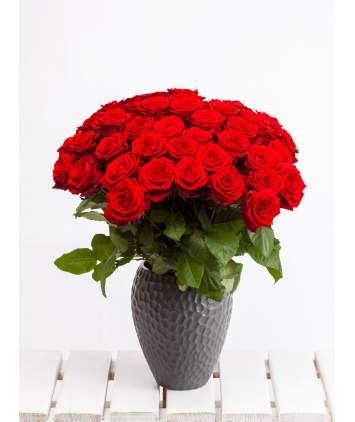 25-ios raudonos rožės