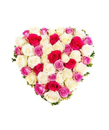 Romantiška rožių širdis