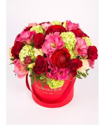 Ryškių spalvų gėlių dėžutė