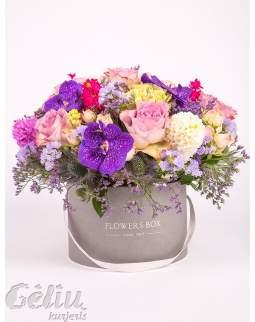 """Gėlių dėžutė su orchidėjomis """"Vanda"""""""